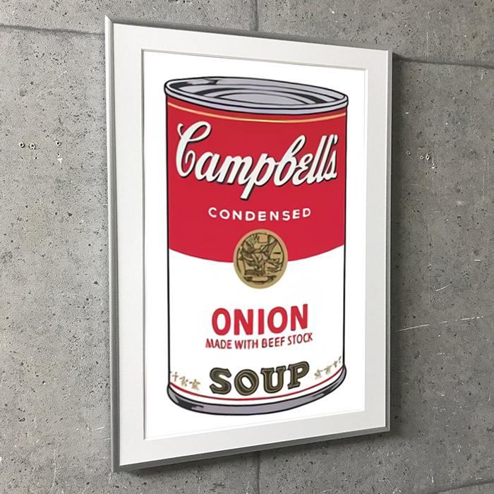 特別額装マット作品/アートポスター/Campbell Soup I Onion 1968(アンディ ウォーホル)