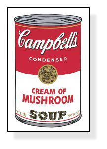 特別額装マット作品/アートポスター/Campbell Soup I Cream of Mushroom 1968(アンディ ウォーホル)