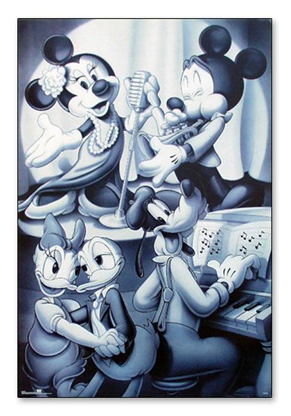Mickey & Friends Nightclub B&W(ディズニー)