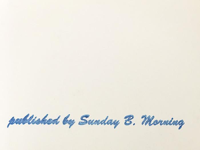 Sunday B Morning モナリザ Black on Vellum  限定2500枚(アンディ ウォーホル)