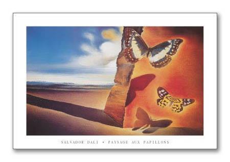 額装済30%OFF/Paysage aux Papillons/サルバドール ダリ/ポスター(サルバドール ダリ)