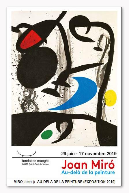 Au-Dela de La Peinture 2019(ジョアン ミロ)