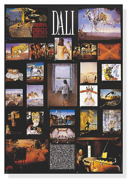 30%OFF!!/Collage of Dali most famous works(サルバドール ダリ)/額装済