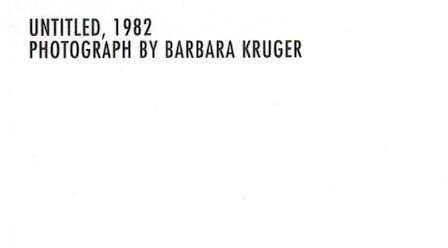額装品/バーバラ クルーガー UNTITLED1982 (Barbara Kruger)(バーバラ クルーガー)