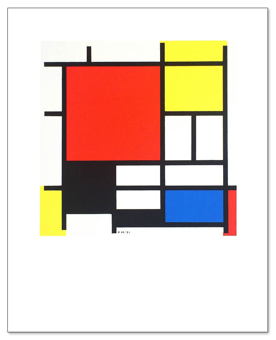 Composition with Red Blue Black and Yellow(ピエト モンドリアン)