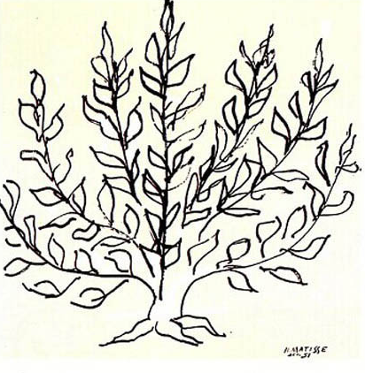 低木 1951年 (アンリ マティス)