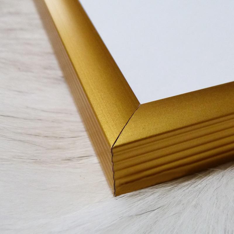 アルミ製ベーシックフレーム(ゴールド)