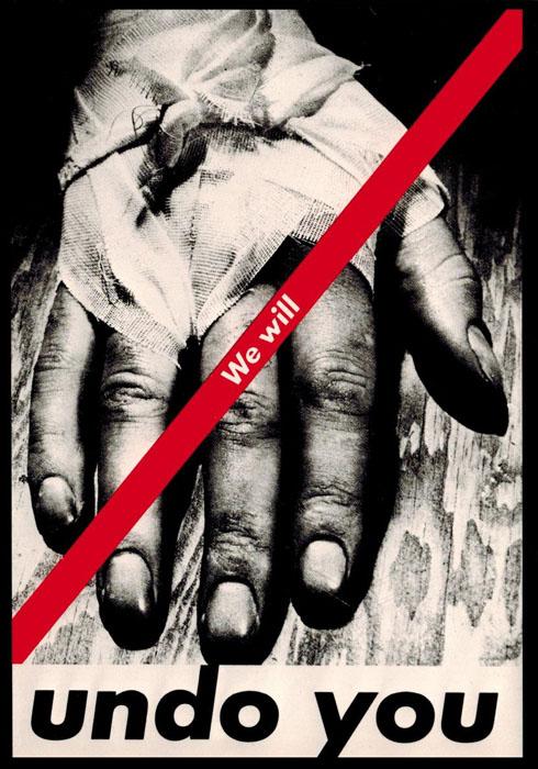 額装品/バーバラ クルーガー UNTITLED1982 We will undo you (Barbara Kruger)(バーバラ クルーガー)