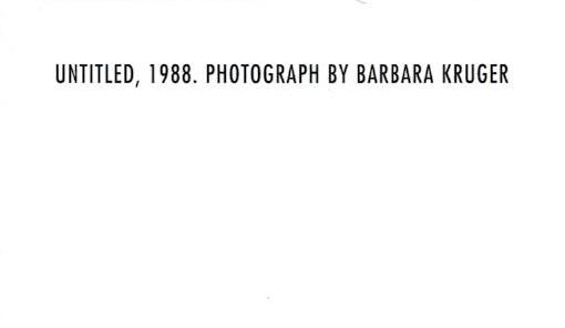 額装品/バーバラ クルーガー UNTITLED1988 (Barbara Kruger)(バーバラ クルーガー)