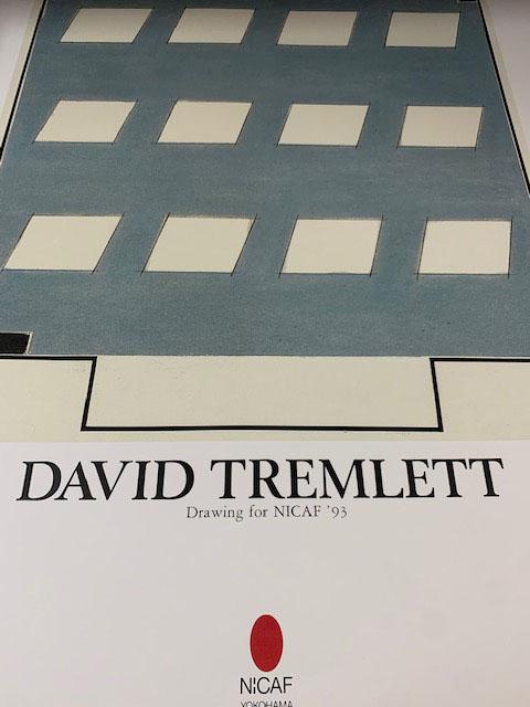 David Tremlett(デビッド・トレムレット)/ドローイング・フォーNICAF 1993/額装品(デビッド・トレムレット)