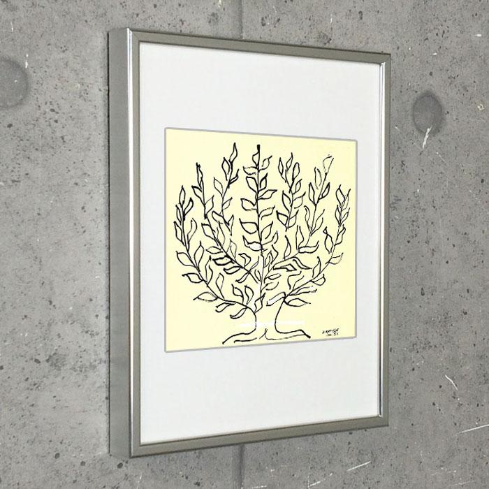 特別マット額装品/アンリ マティス/低木 1951年(アンリ マティス)