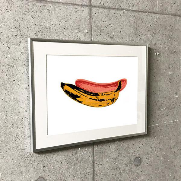 特別額装マット作品/アートポスター/ウォーホル/バナナ 1966(アンディ ウォーホル)