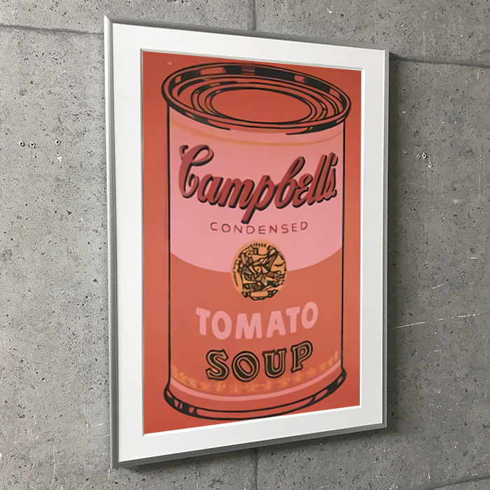 特別額装マット作品/アートポスター/Campbell Soup Can 1965 (orange)(アンディ ウォーホル)