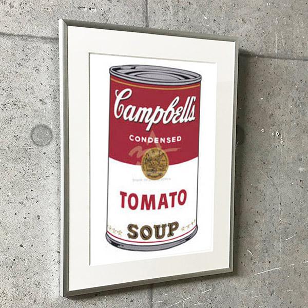 特別額装マット作品/アートポスター/ウォーホル/キャンベルスープ缶 I (トマト) 1968(アンディ ウォーホル)