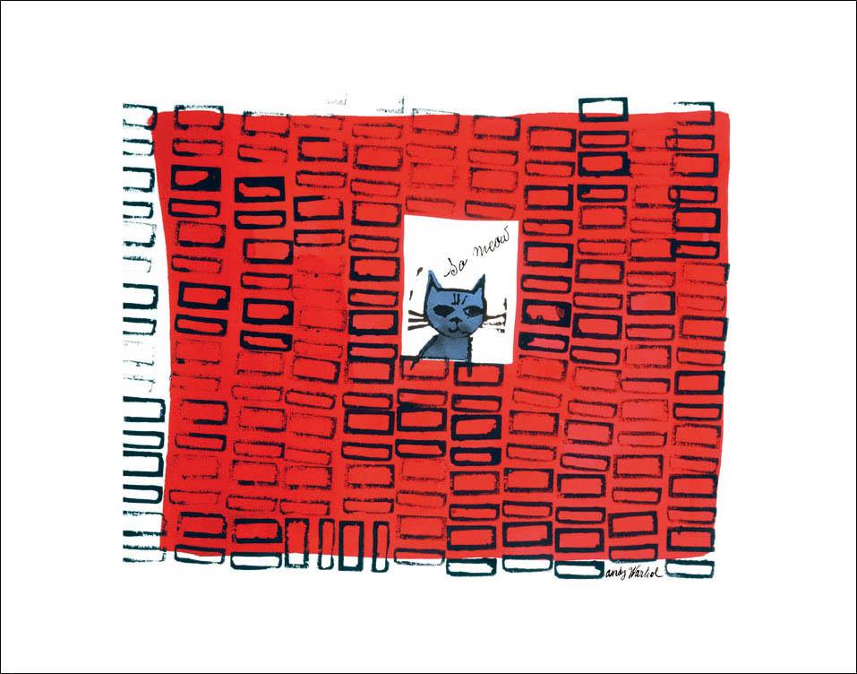 特別額装マット作品/アートポスター/ウォーホル/So Meow、 c. 1958(アンディ ウォーホル)