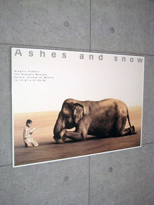 Ashes and snow 象に本を読んで聞かせる少年(グレゴリー コルベール)【f】