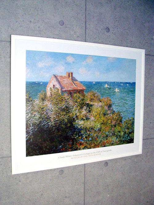 ヴァランジュヴィルの崖の漁師小屋 1882(クロード モネ)【f】