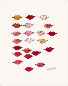 特別額装マット作品/アートポスター/ウォーホル/(Stamped) Lips c 1959(アンディ ウォーホル)