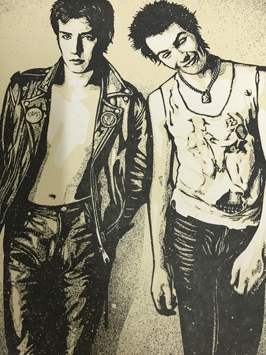 シド・ヴィシャス(Sid Vicious)Steve and Sid 限定200枚 Shepard Fairey & Dennis Morris手書きナンバリング/サイン入り(オベイ)