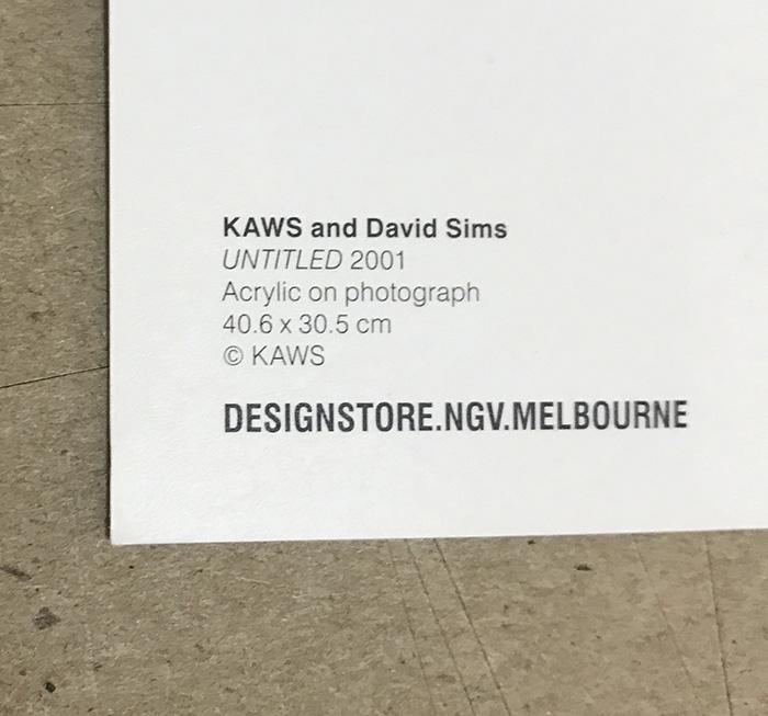 限定マット額装品/Kaws and David Sims【 Kate Moss UNTITLED 2001】(カウズ ブライアン・ドネリー)