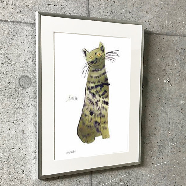 特別額装マット作品/アートポスター/ウォーホル/Untitled (Green Sam) c. 1956(アンディ ウォーホル)
