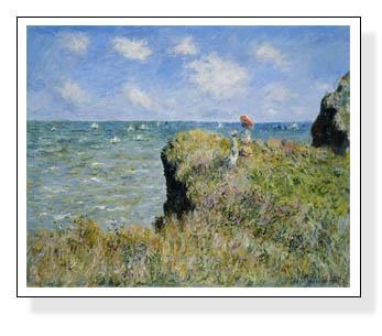 プールヴィルの断崖の上の散歩 1882(クロード モネ)