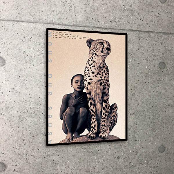 額装済30%OFF/Ashes and snow Child Next to Cheetah Mexico City/コルベール/ポスター(グレゴリー コルベール)