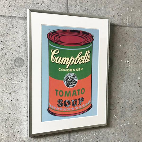 特別額装マット作品/アートポスター/ウォーホル/キャンベルスープ缶 (green & red) 1965(アンディ ウォーホル)