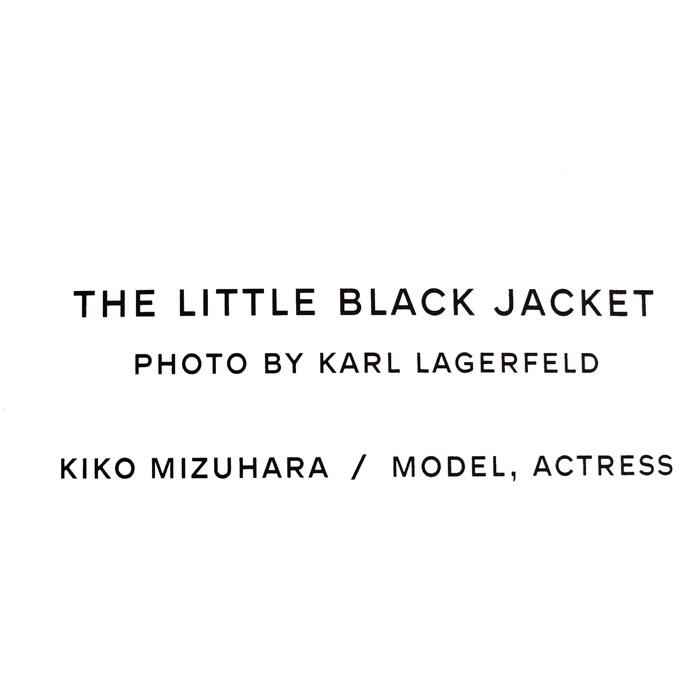 額装品30%OFF/シャネル The Little Black Jacket 水原 希子(カール ラガーフェルド)