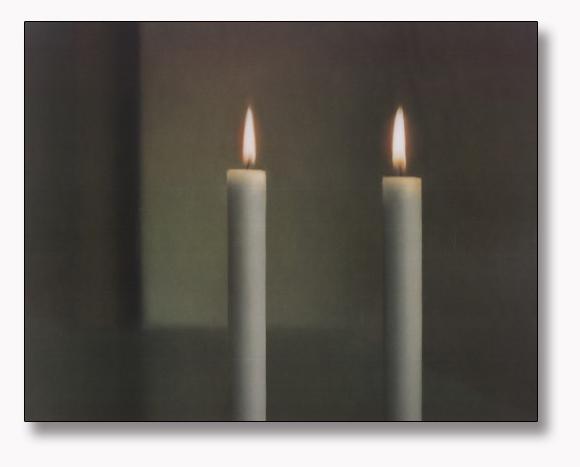 特別額装品/Two Candles(ゲルハルト リヒター)