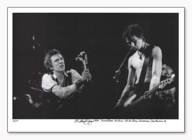 Johnny Rotten& Sid Vicious  Sex Pistols 手書きナンバリング限定10枚/サイン入り(マイケル ザガリス)