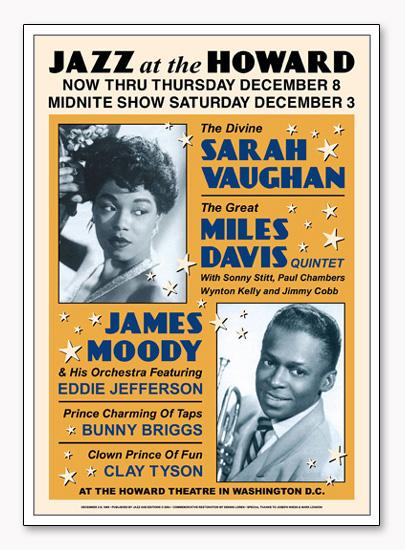 サラ ヴォーン/マイルス デイヴィス Jazz at the Howard(アーティスト不明)