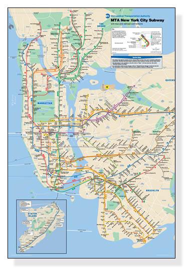 額装済30%OFF/New York City Subway Map/作者不明/ポスター(作者不明)