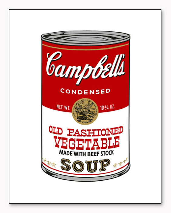 Campbells Soup Series II Old Fashioned Vegetable 1968(アンディ ウォーホル)