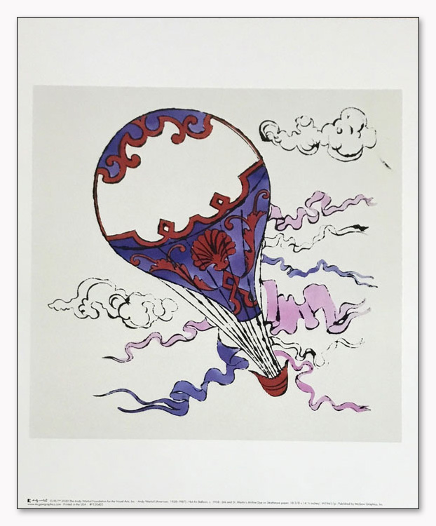 特別額装マット作品/Hot Air Balloon 1958/ウォーホル(アンディ ウォーホル)