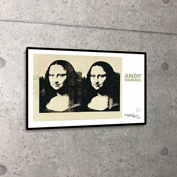 額装済30%OFF/MonaLisa  シカゴ美術館リミテッド500枚/アンディ ウォーホル/ポスター(アンディ ウォーホル)