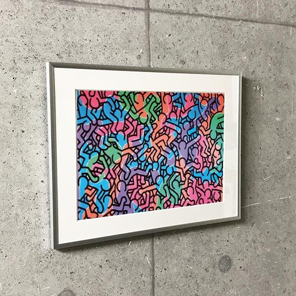 特別額装マット作品/アートポスター/Untitled  1985 (figures)(キース ヘリング)