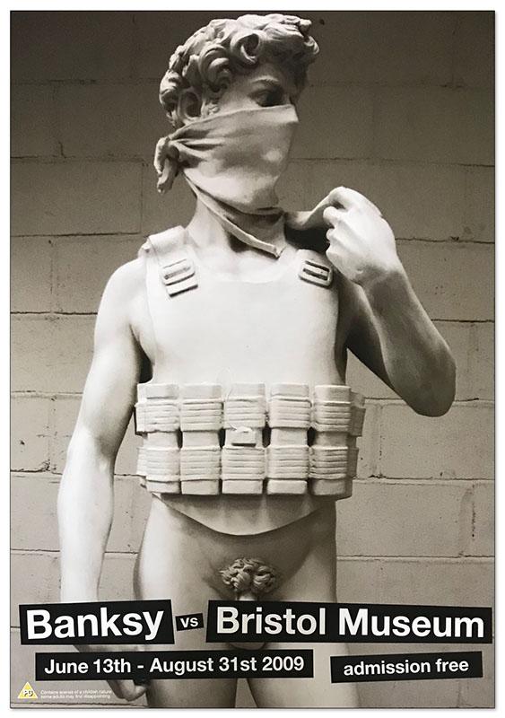 basnksy bristol Michelangelos David Suicide Bomber 2009(バンクシー)