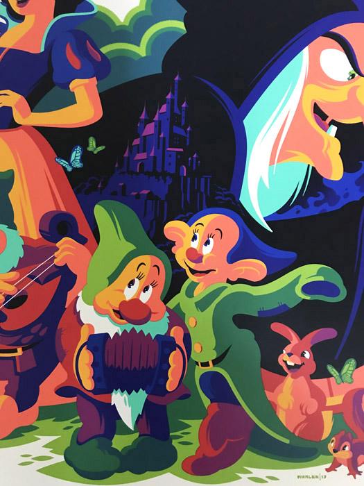 Mondo Snow White 白雪姫 80th anniversary 限定230枚 手書きナンバリング/サイン入り/ポスター(トム ウェイレン)