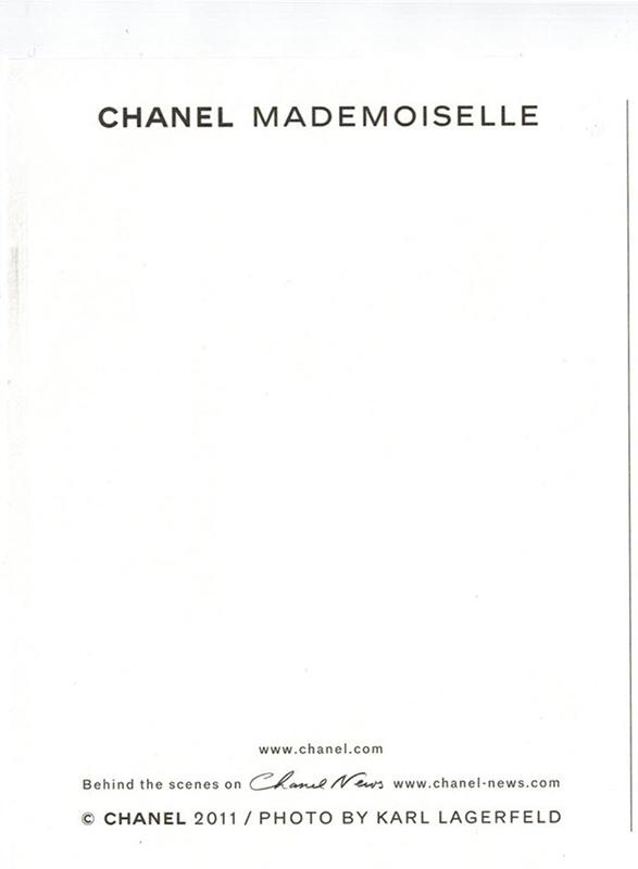 2011 CHANEL MADEMOISELLE BLAKE LIVELY KARL LAGERFELD(カール ラガーフェルド)