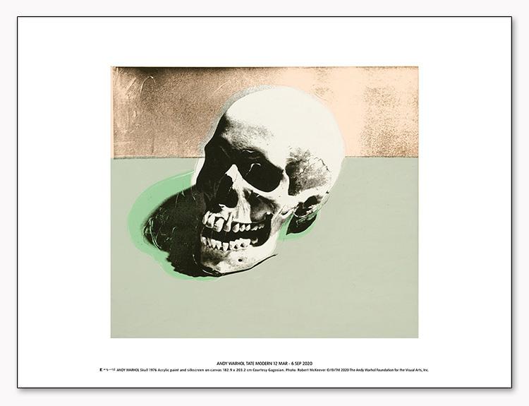 Skull (white) 1976 exhibition(アンディ ウォーホル)