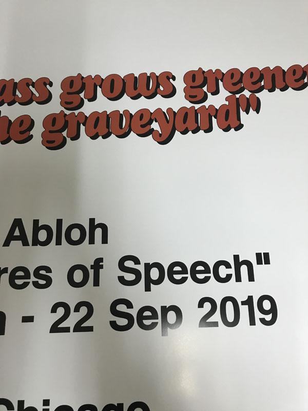 Figures of Speech n.1(ヴァージル アブロー)