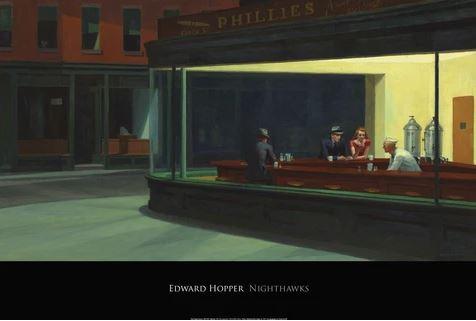 ナイトホークス 【Nighthawks 1942】(エドワード ホッパー)【f】