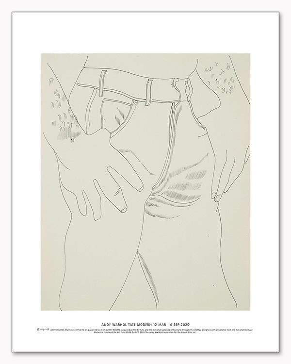 特別マット額装品/Male Torso 1956 exhibition/ウォーホル(アンディ ウォーホル)