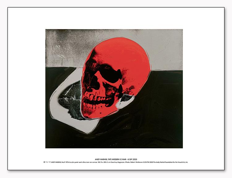 特別マット額装品/Skull (red) 1976 exhibition/ウォーホル(アンディ ウォーホル)