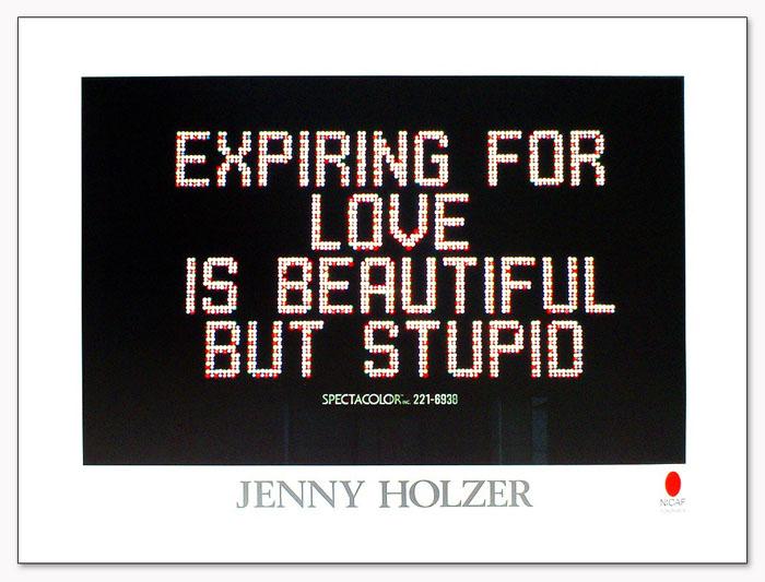 特別額装品/ジェニー・ホルツァー Times Spuare 1982(ジェニー・ホルツァー)