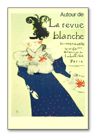 La Revue Blanche(アンリ ド トゥールーズ ロートレック)