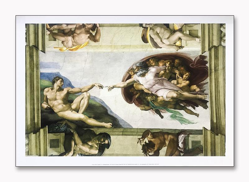 The Creation of Adam (full)(ミケランジェロ ブオナローティ)