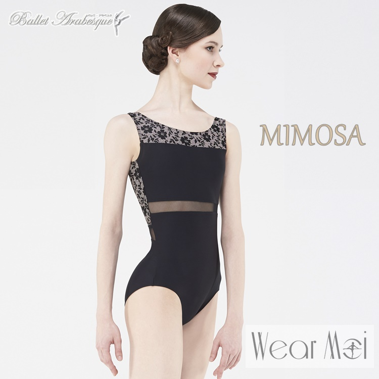 【Wear Moi ウェアモア】 MIMOSA  ミモザ バレエレオタード (大人 バレエレオタード)黒