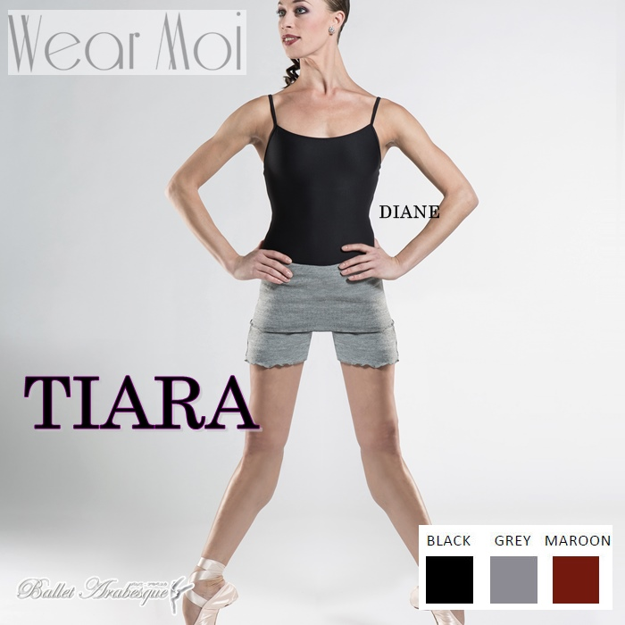 【Wear Moi ウェアモア】TIARA ティアラ バレエニットハイウェストショートパンツ 大人用 バレエ